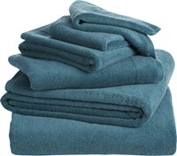 Cb2 6 Piece Smith Blue Green Bath Towel Set