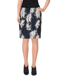 Viktor And Rolf Skirts Knee Length Skirts Women Dark Blue