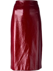 Erika Cavallini Semi Couture Straight Skirt Red