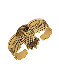 Lucky Brand Winged Owl Cuff Bracelet Gold