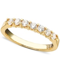 Macy's Seven Diamond Band Ring In 14K Yellow Or White Gold 1 2 Ct. T.W. Yellow Gold