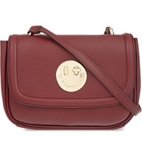 Hill And Friends Happy Mini Leather Cross Body Bag Oxblood