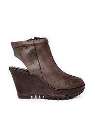 Gardenia Leather Peeptoe Sling Ankle Boots Montanabrown