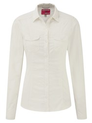 Craghoppers Nosilife Darla Long Sleeved Shirt Winter White