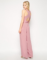 Love Jumpsuit With Cross Back Nude