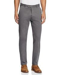 Bloomingdale's The Men's Store At Brushed Cotton Straight Fit Pants Ashphalt