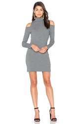 Splendid Waffle Loose Knit Mini Dress Gray