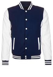 Urban Classics Oldschool College Jacket Light Jacket Navy White Blue
