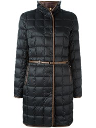 Fay Belted Quilted Coat Black