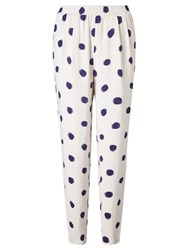 Selected Femme Fria Trousers Blue Dot