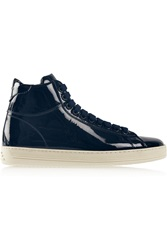 Tom Ford Patent Leather High Top Sneakers