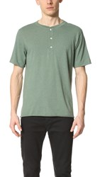Billy Reid Hunter Short Sleeve Henley Bay Green