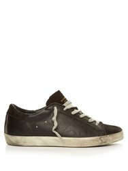 Golden Goose Super Star Low Top Leather Trainers Black