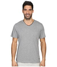 Tommy Bahama Heather Cotton Modal Jersey Short Sleeve V Neck Tee Heather Grey Men's T Shirt Gray