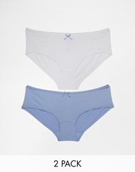 Marie Meili Joie Two Pack Brief Blue And White