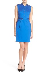 Women's Ellen Tracy Stretch Cotton Shirtdress Cobalt