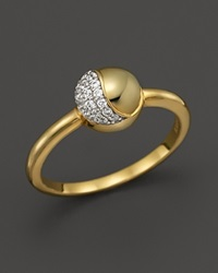 Kara Ross 18K Yellow Gold Small Hydra Ring With Pave Diamonds Gold White