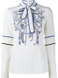 Peter Pilotto Embellished Blouse White