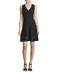Theory Jemoine Embroidered Linen Dress Black
