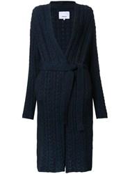 08Sircus Cable Knit Gown Length Cardigan Blue