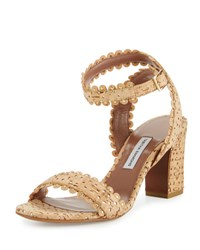 Tabitha Simmons Leticia Scalloped Cork Sandal Natural