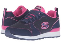 Skechers Og 85 Quick Stitch Navy Pink Women's Shoes