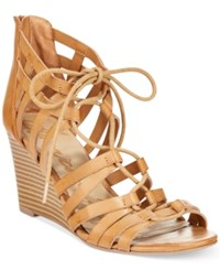 American Rag Kyle Lace Up Demi Wedge Sandals Only At Macy's Women's Shoes