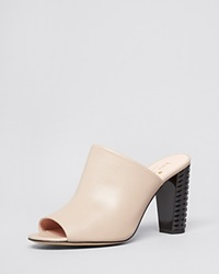 Kate Spade New York Open Toe Slide Mule Sandals Bailee High Heel Doe Nappa Black Spray Heel