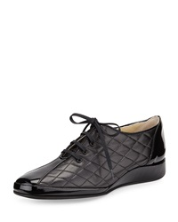 Amalfi By Rangoni Esse Quilted Leather Sneaker Black