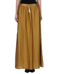 Annie P. Long Skirts Khaki