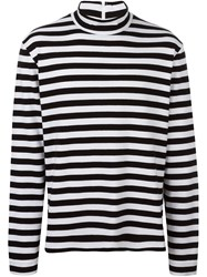 Golden Goose Deluxe Brand Striped Longsleeved T Shirt Black