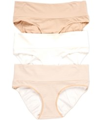 Motherhood Maternity Fold Over Briefs 3 Pack Nude Anim Nudestrp