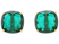 Kate Spade Small Square Studs Emerald Earring Green