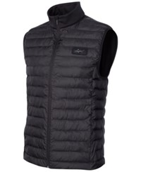 Greg Norman For Tasso Elba Quilted Zippered Vest Only At Macy's Deep Black