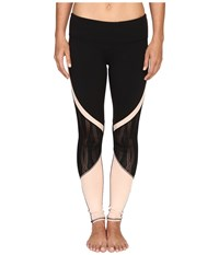 Alo Yoga Vitality Leggings Black Buff Women's Workout Beige