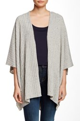 Painted Threads Wide Rib Cocoon Cardigan Gray