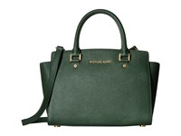 Michael Michael Kors Selma Medium Tz Satchel Moss Satchel Handbags Green
