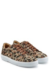 A.P.C. Printed Cotton Sneakers Multicolor