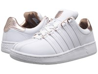 K Swiss Classic Vn Aged Foil White Rose Gold Leather Women's Shoes