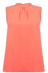 Warehouse Sleeveless Tie Back Top Coral