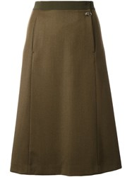 Maison Martin Margiela A Line Knee Length Skirt Green