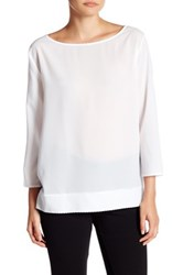 French Connection Polly Plains Scallop Edge Tee White