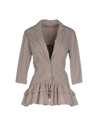 European Culture Suits And Jackets Blazers Women Dove Grey