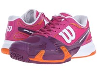 Wilson Rush Pro 2.0 Fiesta Pink Plumberry Women's Tennis Shoes Purple