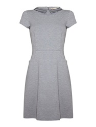 Yumi Collared Day Dress Grey