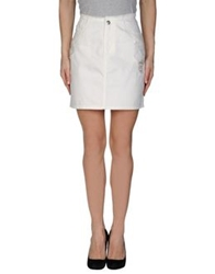 Cheap Monday Denim Skirts White