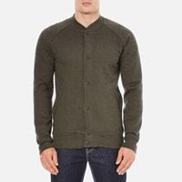 Levi's Men's Fleece Bomber Jacket Chain Olive Night Black Chain Yarn