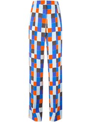 Emilio Pucci High Waisted Printed Trousers Multicolour