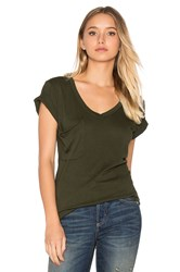 Bobi Light Weight Jersey Short Sleeve Pocket Tee Green