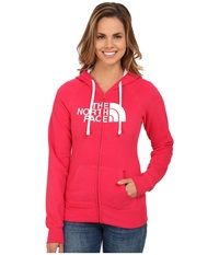 The North Face Half Dome Full Zip Hoodie Rose Red Tnf White Women's Fleece
